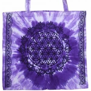 Tote Bag - Flower of Life Purple 40x45cm