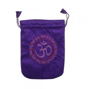 """Purple Om Velvet Bag 5x7"""""""