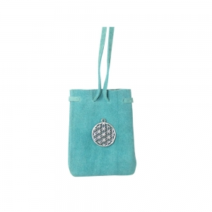 Flower of Life Turquoise Pouch