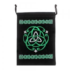 """Celtic Black Velvet Pouch 5x7"""""""