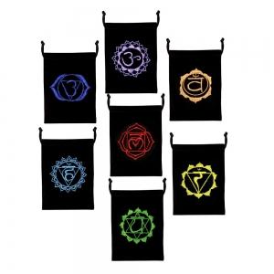 "7 Chakra Embroided Bag 5""x7"" (Set of 7)"