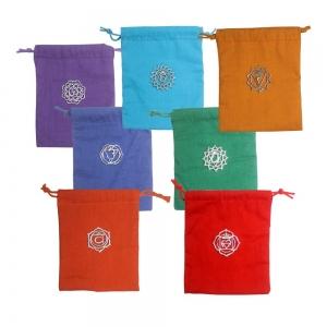 7 Chakra Charm Cotton Bag 6'x7' (Set of 7)