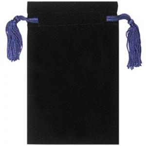 Velvet Bag with Blue Tassels  12.5cm X 20cm