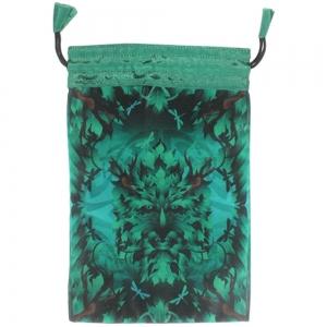 TAROT BAG - Green Man Printed 15cm x 20cm