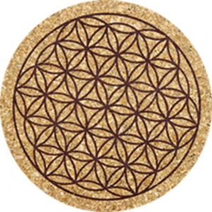 Flower of Life Print Cork Coasters Set of 6