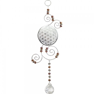 Flower of Life with Clear Crystal Glass Bead