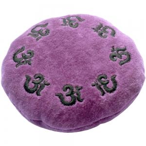 CUSHION - Om Embroided Velvet 12cm