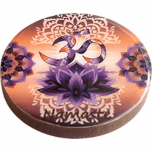 COASTER - Om Lotus Print Wood (Set of 4)