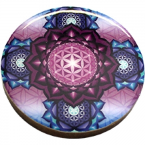 COASTER - Flower of Life Print Wood (Set of 4)