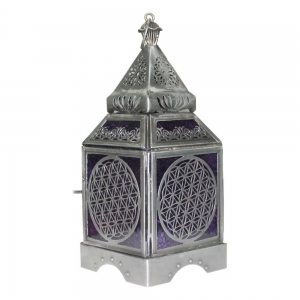 Flower of Life Silver Lantern