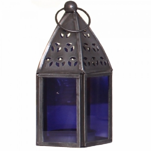 METAL LANTERN  - Purple 7.5cm