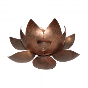 CANDLE HOLDER - Lotus Copper 5cm x 15cm