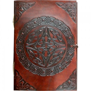 Celtic Leather Journal 18cmx12.5cm