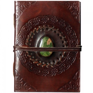 Celtic with Stone Leather Journal 12.75x17.75cm