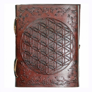 Flower of Life Embossed Leather Journal 7.5x10cm