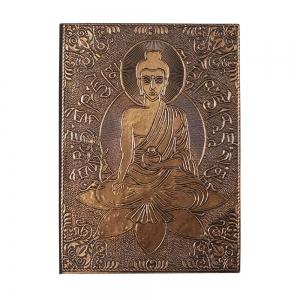 "Buddha Copper Plated Journal 5X7"""