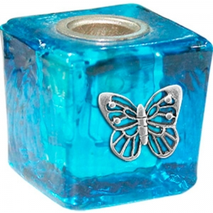 Butterfly Turquoise Wish Candle Holder 3cm
