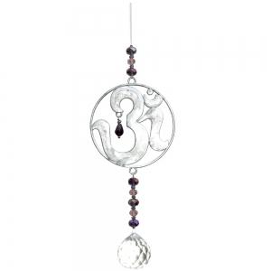 Om Charm Crystal Hanging