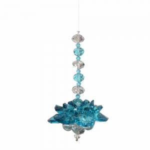 Crystal Lotus Turquoise Suncactcher