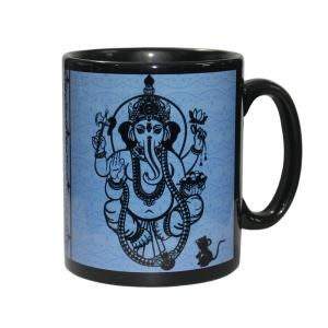 Ganesh Ceramic Mug Black
