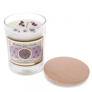Gemstone Candle - Healing Amethyst