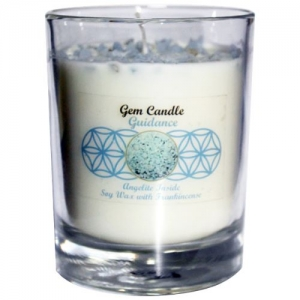 Gemstone Candle - Guidance Angelite