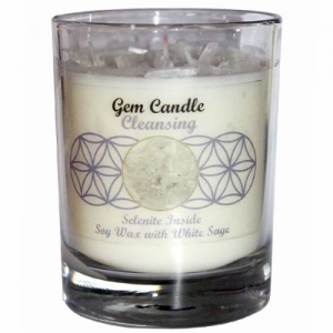 Gemstone Candle - Cleansing Selenite