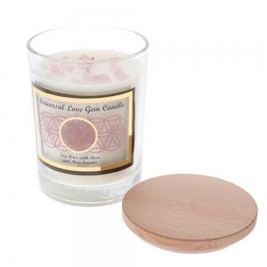 Gemstone Candle - Universal Love Rose Quartz