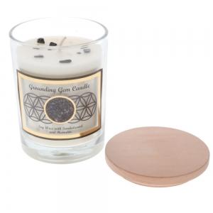 Gemstone Candle - Grounding Hematite