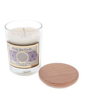 Gemstone Candle - Clarity Clear Quartz