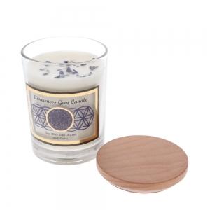 Gemstone Candle - Awareness Lapis