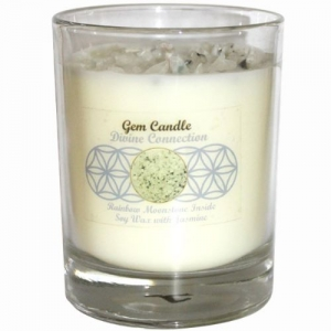 Gemstone Candle - Divine Connection Moonstone