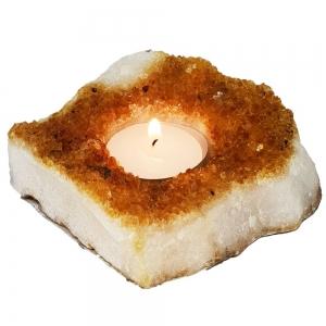 Citrine A Druse Candle Holder