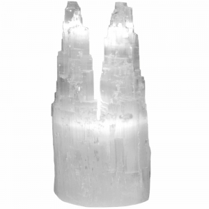SELENITE - LAMP DOUBLE ICEBURG with CORD