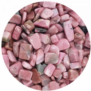 CRYSTAL CHIPS - Rhodonite 8-12mm 100gms