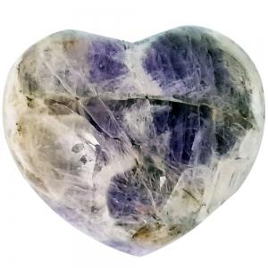 HEART - Chevron Amethyst Puffed  40mm