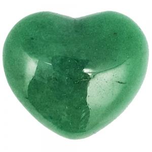 HEART - Green Aventurine Puffed  40mm