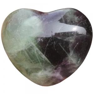 HEART - Fluorite Puffed  40mm