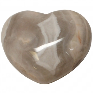 HEART - Grey Lace Agate  45mm