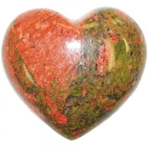 HEART - Unakite  45mm