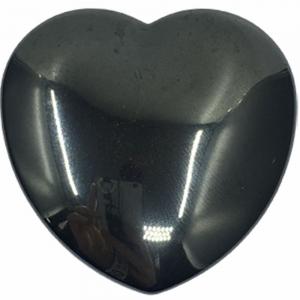 HEART - Hematite Puff  45mm