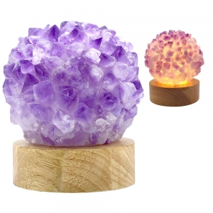 USB LAMP - AMETHYST POINTS (WITH LED LIGHT)
