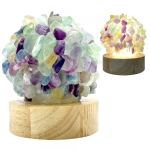 USB LAMP - FLUORITE POINTS (WITH LED LIGHT)