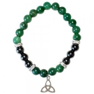Aventurine & Hematite Triquetra Bracelet