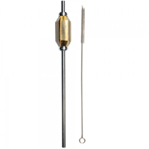 STAINLESS STEEL STRAW (WITH BRUSH) - TIGER EYE