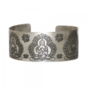 Buddha Brass White Metal Bracelet