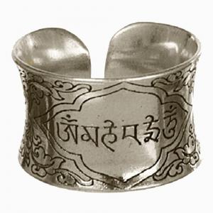 Om Mani Padme Hum Adjustable Ring