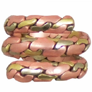 Ring - Spiral Copper and Brass (6pk)