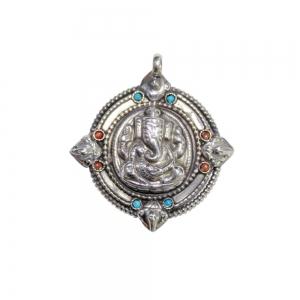 PENDANT - Brass Ganesh 3.8cm