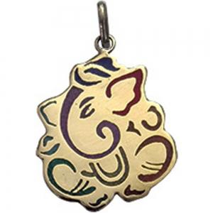 7 Chakra Ganesh Brass Pendant